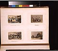 Studio portraits of Japanese women singing with shamisen, a girl being massaged, and men carrying sedan chair outdoors LCCN2011649882.jpg