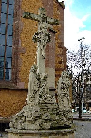 Hans Seyffer - Copy of the crucifixion group of Hans Seyffer at the Leonhardskirche in Stuttgart
