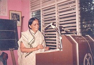 Sugathakumari - Sugathakumari during the Fokkana Award distribution ceremony, Thiruvananthapuram (1994)