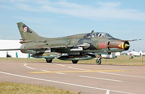 Sukhoi Su-22UM-3K Fitter at RIAT 2010 arp.jpg