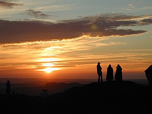English: Summer Solstice 2005. Sunrise at Arbo...