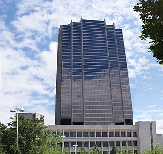 Waterloo, Ontario - The Sun Life Financial building is currently the tallest building in Waterloo.