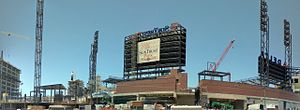 SunTrust Park - SunTrust Park under construction, July 2016