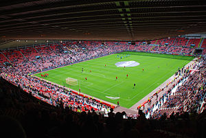 Tyne–Wear derby - Players warm up at the Stadium of Light ahead of the derby game.