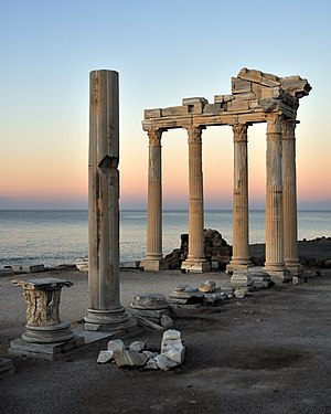 Side, Turkey - The Temple of Apollo is located at the end of Side's peninsula.