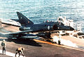Super Étendard launching from Foch (R99) off Lebanon 1983.JPEG