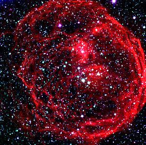 Superbubble - Image: Superbubble N70 in LMC