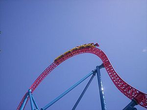 Superman Escape, Warner Bros. Movie World, Goldcoast, Queensland, Australia.