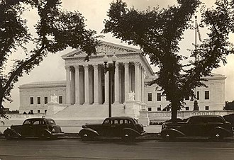 United States Supreme Court Building - View of the Supreme Court Building in 1935