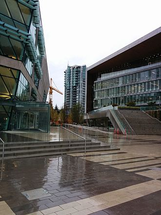 Surrey, British Columbia - The Surrey Centre Library and Surrey City Hall