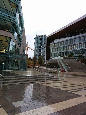 Surrey, British Columbia - The Surrey Centre Library and Surrey City Hall