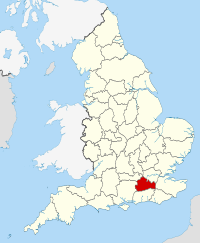 Surrey within England