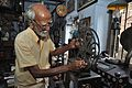 Sushil Kumar Chatterjee Maintains 35mm Film Portable Projector - Kolkata 2017-02-23 0489.JPG