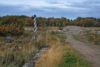 Bolshoy Solovetsky Island -  Beginning of the dam from the Solovetsky Islands.