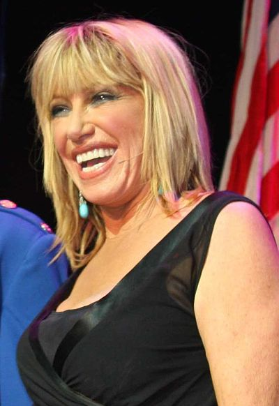 Suzanne Somers, American actress