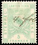 Switzerland Bern 1880 revenue 5Fr - 18F.jpg