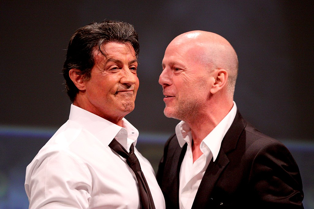 File:Sylvester Stallone, Bruce Willis Comic-Con 2010.jpg ... Bruce Willis