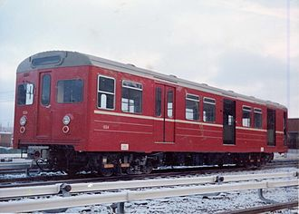 OS T1000 - A T1000 car in original livery at Ryen Depot in 1965