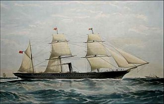 Thomas Goldsworthy Dutton - Image: T.G. Dutton SS Mooltan (c.1865)
