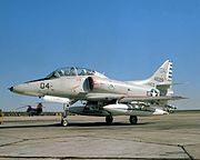 TA-4F Skyhawk from H&MS-32 at MCAS Cherry Point on 1 December 1978