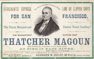 Medford, Massachusetts - Clipper ship Thatcher Magoun