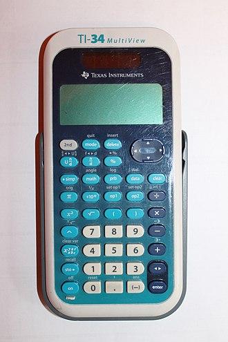 TI-34 - TI-34 MultiView calculator, manufactured in China around 2008.