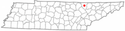 Location of Huntsville, Tennessee