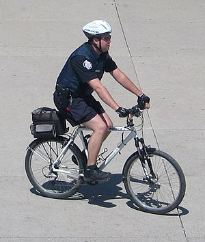 Police bicycle - Police bicycle in Toronto, Canada