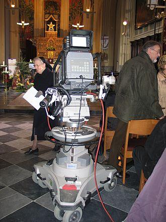 Camera pedestal - Outside Broadcast camera on a pedestal