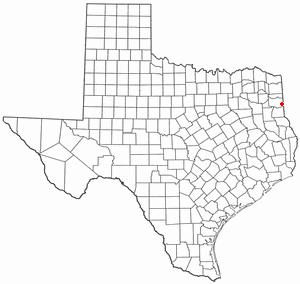 Waskom, Texas - Image: TX Map doton Waskom