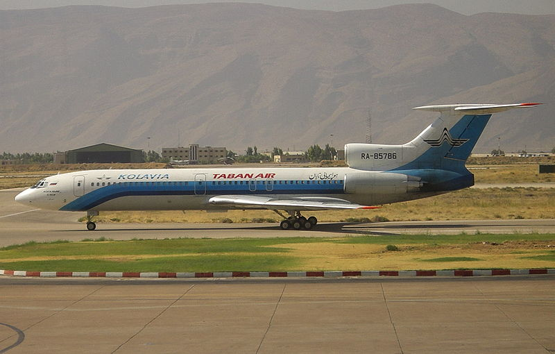 Taban Air flight 6437, Tu-154