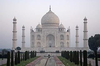 Taj Mahal Marble mausoleum in Agra, India