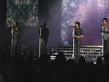 Take That en concert al Newcastle Metro Radio Arena el novembre de 2007.