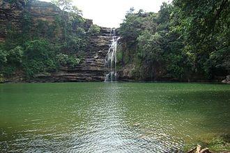 Taxakeshwar - Waterfall at Taxakeshwar temple