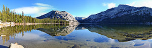 Tenaya Lake - Image: Tenaya Lake 120° pano