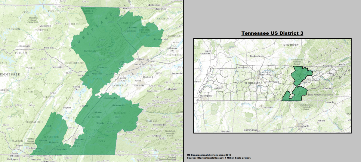 Tennessees Rd Congressional District Wikipedia - Tennessee us map