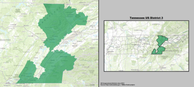 Tennessee's 3rd congressional district - since January 3, 2013.