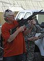 Terry Bradshaw M4 carbine Bagram AF Base.JPG