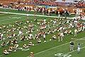 Texas football Baylor 2006 warmups.jpg