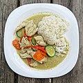 Thai green chicken curry at Highgate Cricket Club, Crouch End, London 3.jpg