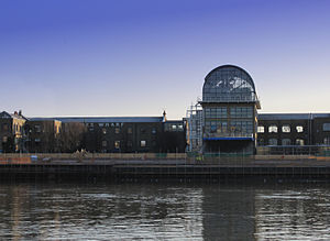 Frost Meadowcroft - Thames Wharf Studios in March 2010, taken from Barnes across The River