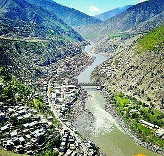 Thathri Town in Jammu and Kashmir, India