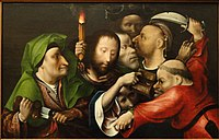 The Arrest of Christ, by the workshop of Hieronymus Bosch, c. 1515, oil on panel - San Diego Museum of Art - DSC06632.JPG