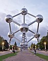 The Atomium during civil twilight (DSCF1135).jpg