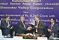The CMD, Rural Electrification Corporation (REC), Shri Rajeev Sharma and the Chairman, Damodar Valley Corporation (DVC), Shri R.N. Sen exchanging the signed documents of the loan agreement, in Kolkata.jpg