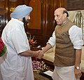 The Chief Minister of Punjab, Captain Amarinder Singh calling on the Union Home Minister, Shri Rajnath Singh, in New Delhi on August 31, 2018.JPG