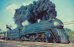The Cincinnatian Baltimore and Ohio steam locomotive 1956.JPG