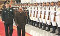 The Defence Minister, Shri A. K. Antony inspecting the guard of honour with his Chinese counterpart Gen. Chang Wanquan, in Beijing on July 05, 2013.jpg