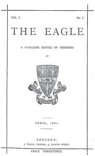 Bedford Modern School - Image: The Eagle 1881