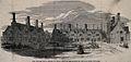 The King William Naval Asylum, Penge. Wood engraving, 1849. Wellcome V0012891.jpg